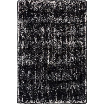 Surya Messina 2 Ft X 3 Ft Solid And Border Area Rug Black At