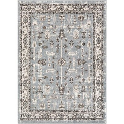 Surya Norwich 6 Ft7 In X 9 Ft Bohemian Global Area Rug Grey