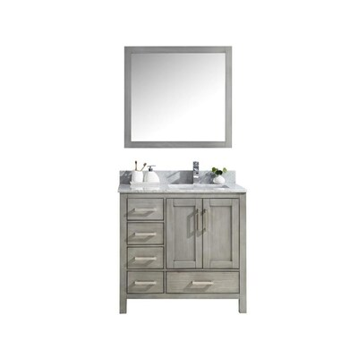 Lexora Jacques 36 In Distressed Grey Single Sink Bathroom