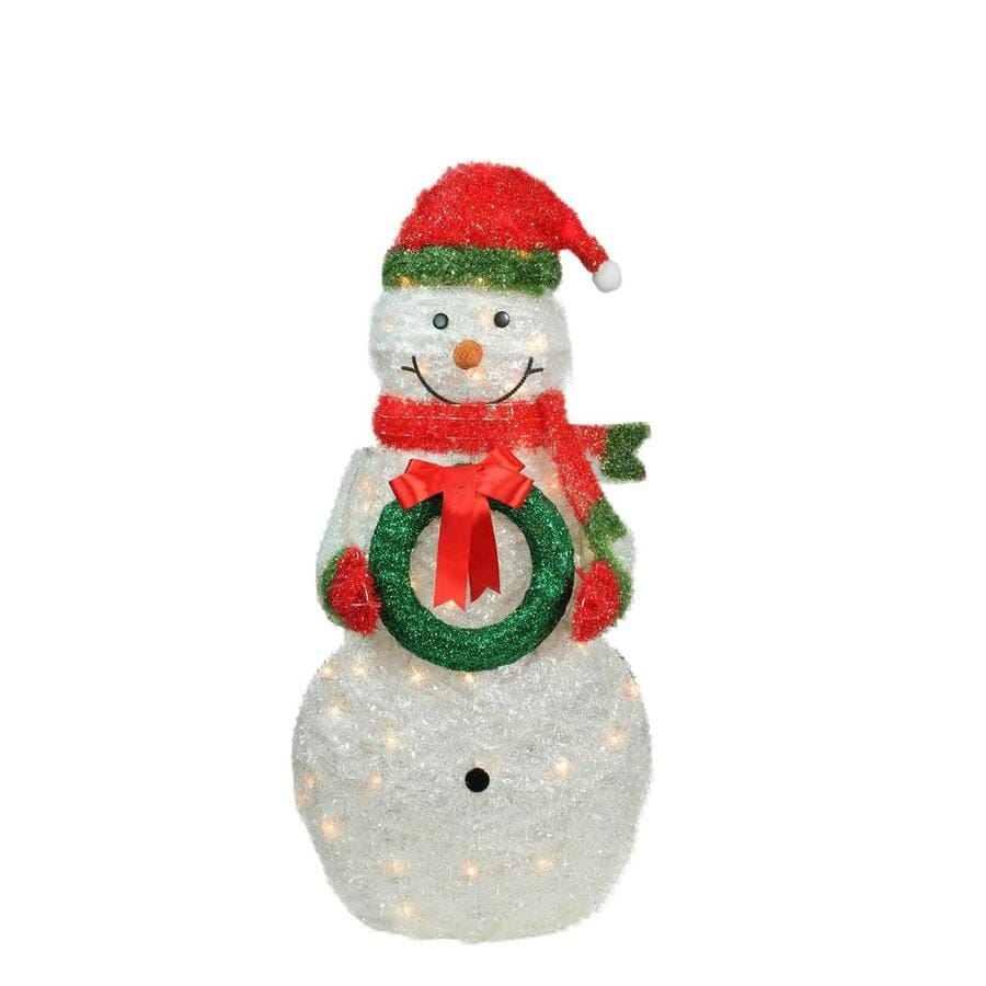 Northlight 38 5 In Snowman Light Display With Clear Incandescent Lights In The Outdoor Christmas Decorations Department At Lowes Com