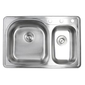 Drop In Double Offset Bowl Kitchen Sinks At Lowes Com