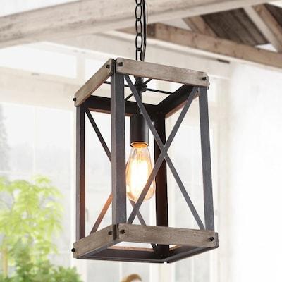 LNC Laius Black Kitchen Island Light Farmhouse Lantern ...
