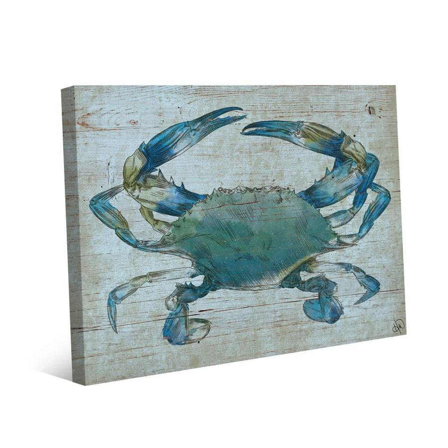 Creative Gallery Crab Frameless 20 In H X 16 In W Coastal Canvas Print In The Wall Art Department At Lowes Com