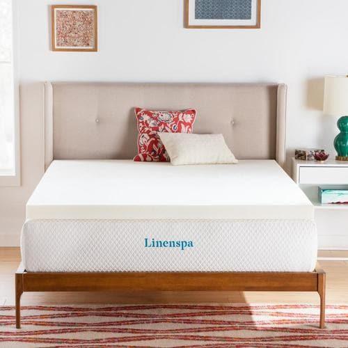 Linenspa Essentials 3-in D Memory Foam Queen Mattress ...