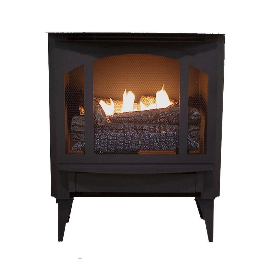 Buck Stove 1000 Sq Ft Dual Burner Vent Free Freestanding Liquid Propane Gas Stove With Blower In The Gas Stoves Department At Lowes Com