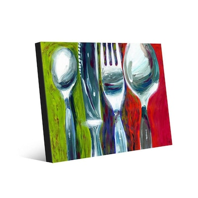 Creative Gallery Pure Chrome 20x30 Metal Wall Art Print At