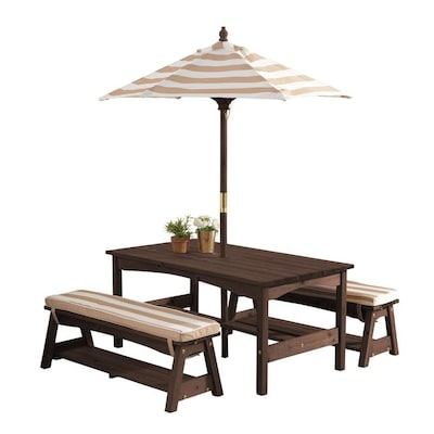 Admirable Kidkraft Outdoor Table And Bench Set With Cushions And Ibusinesslaw Wood Chair Design Ideas Ibusinesslaworg