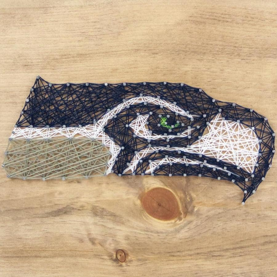 Sporticulture Seattle Seahawks Frameless 11 5 In H X 11 5 In W Sports Wood Word Art In The Wall Art Department At Lowes Com