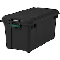 Deals on IRIS Weather Tight 20.5-Gallon Black Tote with Latching Lid