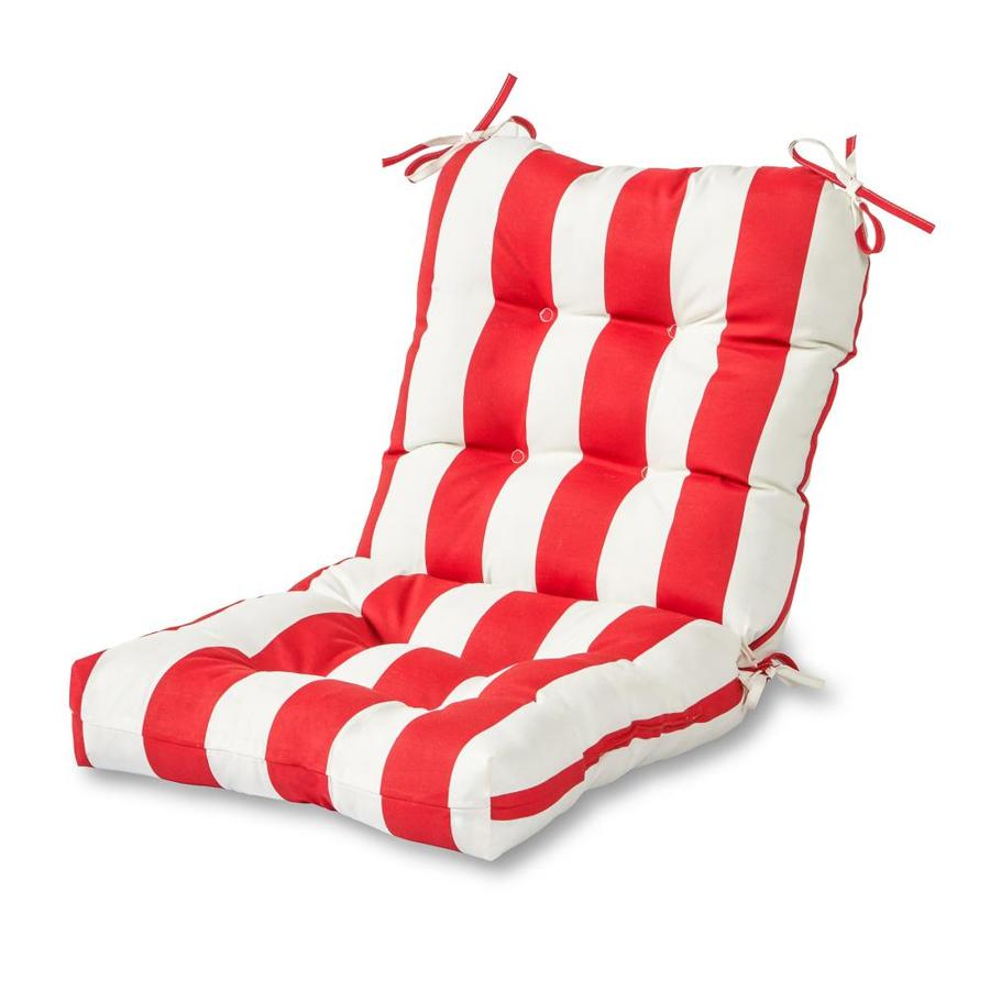 Greendale Home Fashions Cabana Red Patio Chair Cushion In The Patio Furniture Cushions Department At Lowes Com