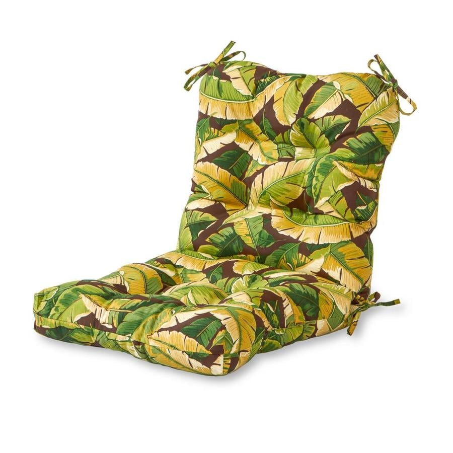 Greendale Home Fashions Palm Green Patio Chair Cushion In The Patio Furniture Cushions Department At Lowes Com