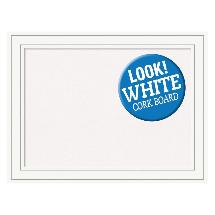 Amanti Art Framed White Cork Board Large Craftsman White Wood In The Memo Boards Department At Lowes Com