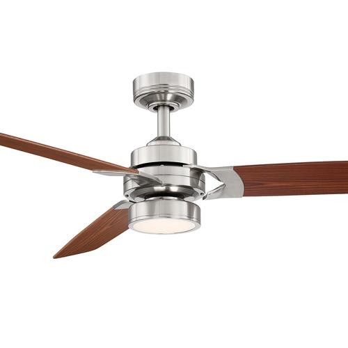 Allen Roth Alexis 52 In Nickel Led Indoor Ceiling Fan With Light Kit And Remote 3 Blade In