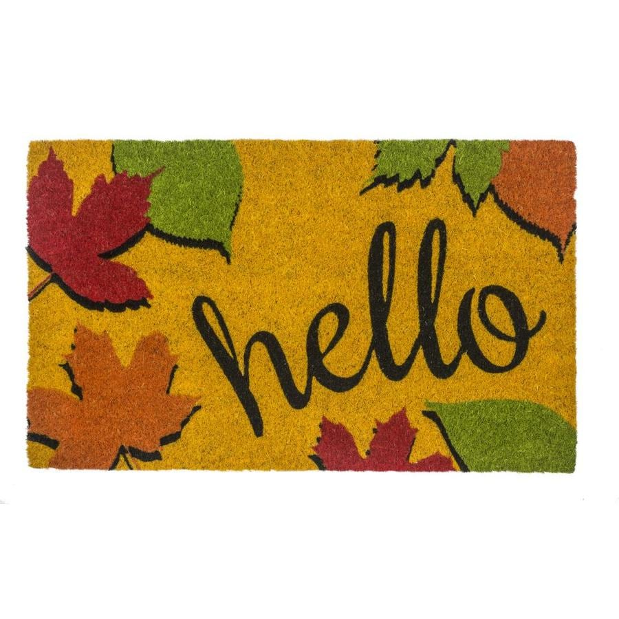 Entryways Sweet Home Collection Yellow Rectangular Outdoor Door Mat In The Mats Department At Lowes Com