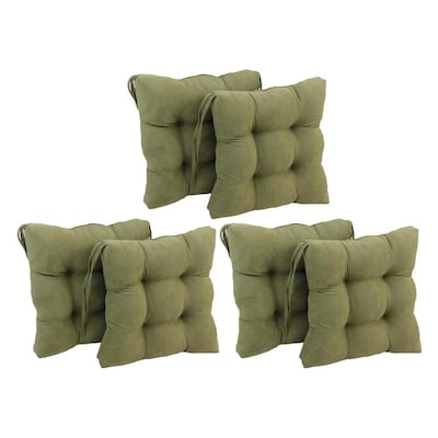 Admirable Blazing Needles Sage Green Solid Chair Cushion At Lowes Com Gmtry Best Dining Table And Chair Ideas Images Gmtryco