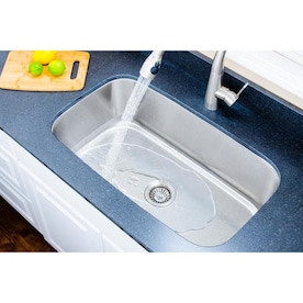 Kohler Prolific 29 In X 16 5 In Stainless Steel Single Bowl Undermount Residential Workstation Kitchen Sink With Drainboard In The Kitchen Sinks Department At Lowes Com