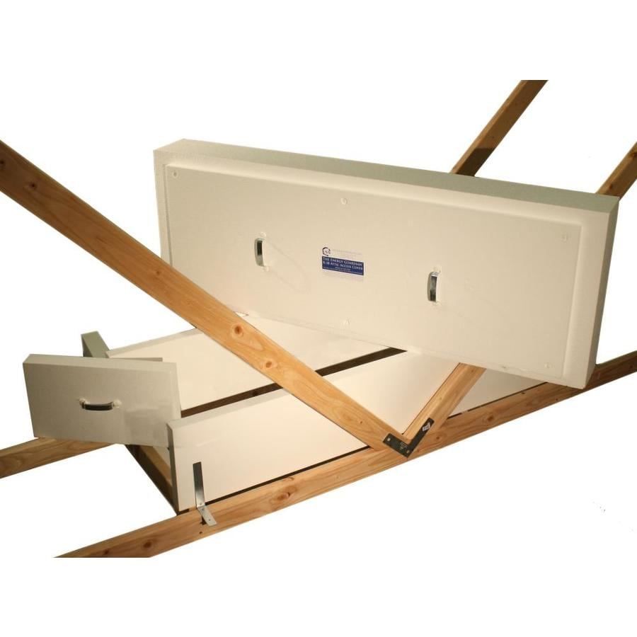 The Energy Guardian Folding Attic Ladder Cover 22 5 In X 61 In Trussed Pull Down Ladder Cover In The Hatch Doors Covers Department At Lowes Com