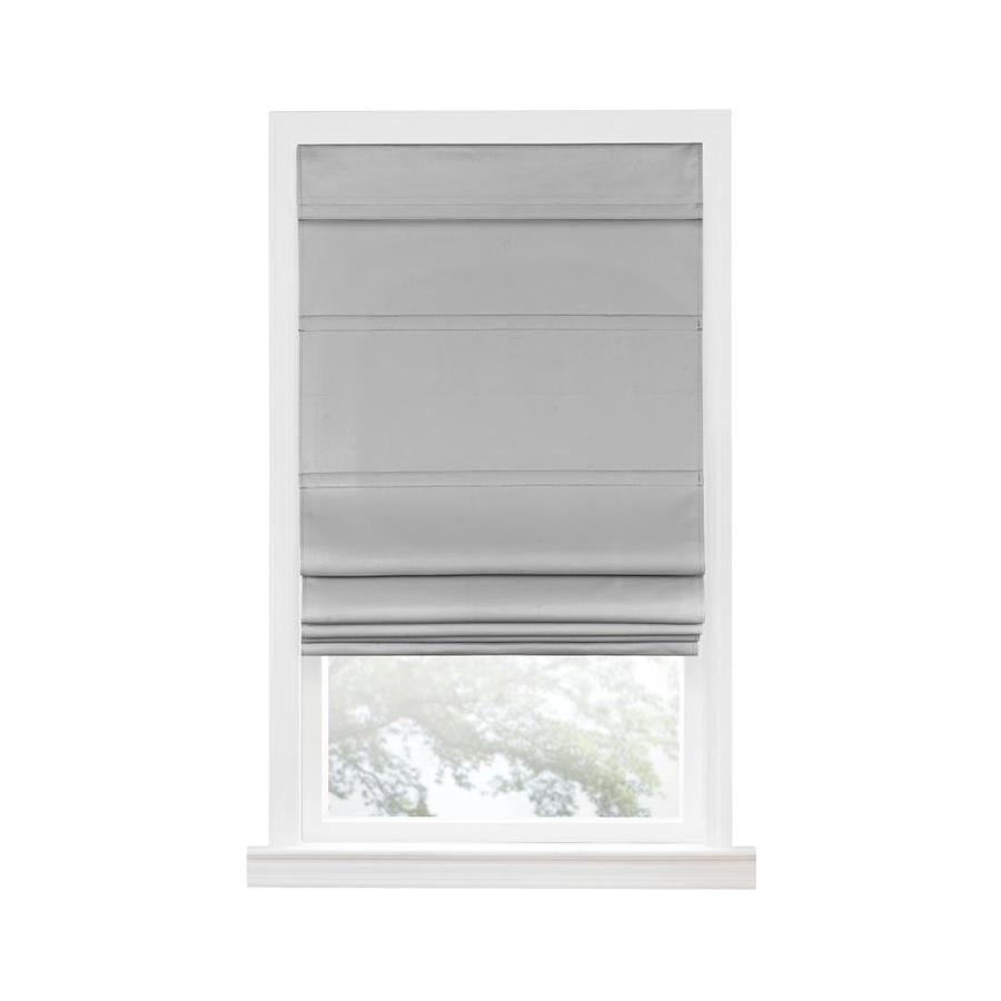 Achim 33 In Grey Blackout Cordless Roman Shade In The Window Shades Department At Lowes Com