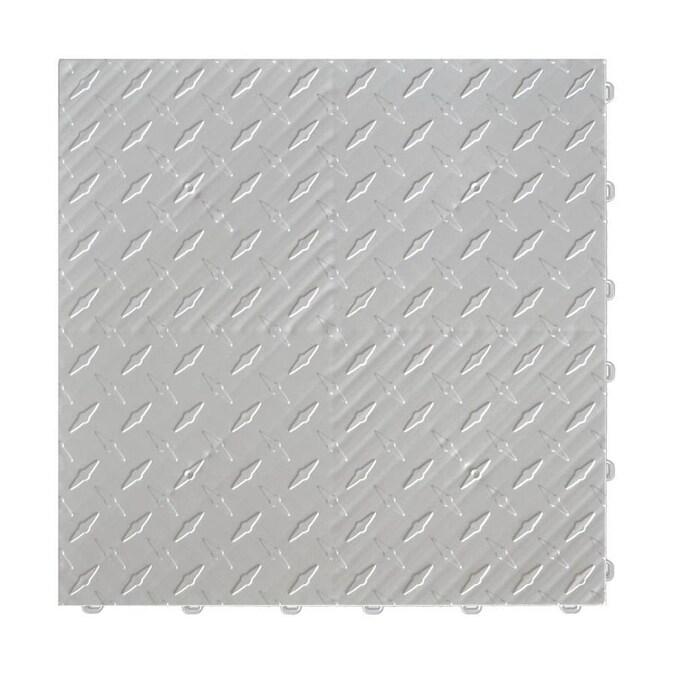 6 Piece Silver Garage Floor Tile