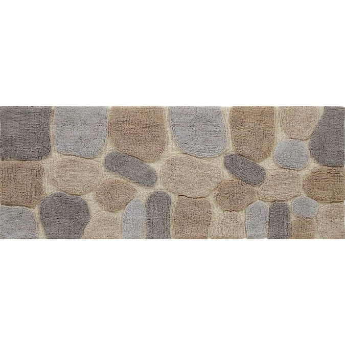 Chesapeake Merchandising Pebbles 60 In X 24 In Cotton Bath Rug In The Bathroom Rugs Mats Department At Lowes Com