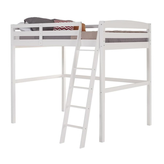 Camaflexi Concord White Full Loft Bunk Bed In The Bunk Beds Department At Lowes Com