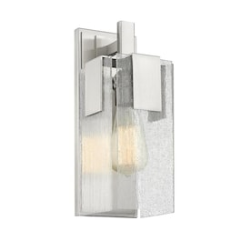 Justice Design Group Fusion Vice 1 Light Wall Sconce Brushed Nickel Finish Seeded Glass Shade In The Wall Sconces Department At Lowes Com