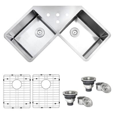 Corner Installation Kitchen Sinks At Lowes Com