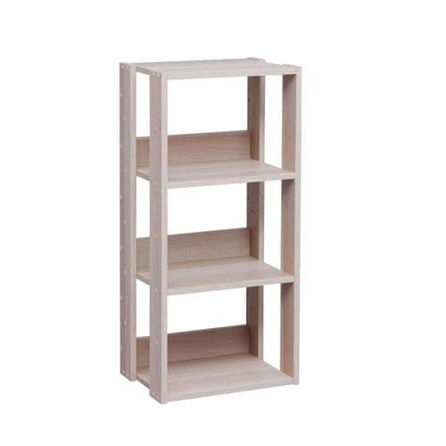 15 Inspirations Of Free Standing Shelving Units Wood: IRIS 11.52-in D X 15.76-in W X 34.63-in H 3-Tier Wood