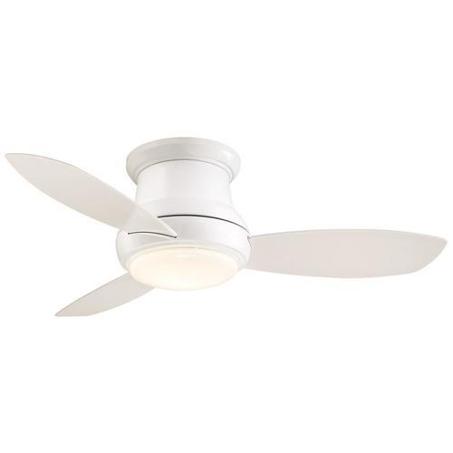 "Concept II LED White Flush Mount 44/"" Ceiling Fan Minka-Aire F518L-WH"