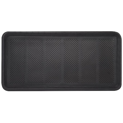 Envelor Rubber Boot Floor Tray Mat 16 In X 32 2 Pack At