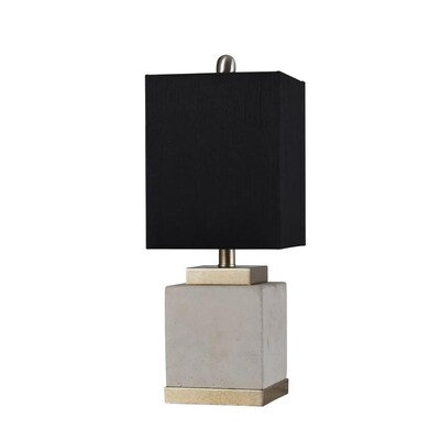 Concrete and steel table  bedside lamp 20+ colors recycled yarn shade