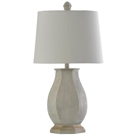 Cal Lighting Madison 30 In Dark Bronze 3 Way Stick Table Lamp With Burlap Shade In The Table Lamps Department At Lowes Com