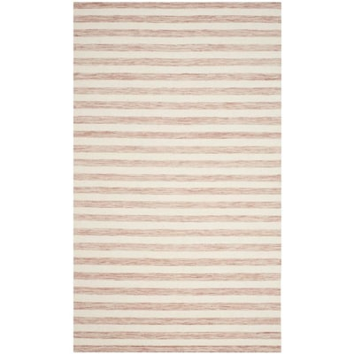 Safavieh Dhurries Piaze 6 X 9 Rust Ivory Indoor Stripe Farmhouse Cottage Handcrafted Area Rug In The Rugs Department At Lowes Com