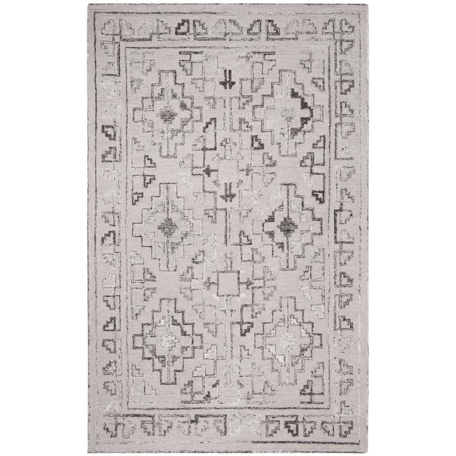 Safavieh Abstract Cara 6 X 9 Blue Black Geometric Bohemian Eclectic Handcrafted Area Rug In The Rugs Department At Lowes Com