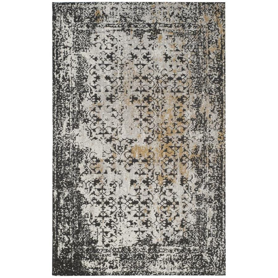 Safavieh Classic Vintage Reese 5 X 8 Black Silver Distressed Overdyed Vintage Area Rug In The Rugs Department At Lowes Com