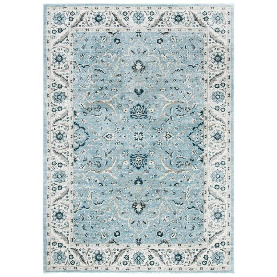 Safavieh Isabella Leon 9 X 12 Light Blue Cream Indoor Distressed Overdyed Vintage Area Rug In The Rugs Department At Lowes Com