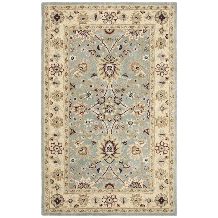 Safavieh Antiquity Jilias 5 X 8 Light Blue Ivory Indoor Floral Botanical Vintage Handcrafted Area Rug In The Rugs Department At Lowes Com