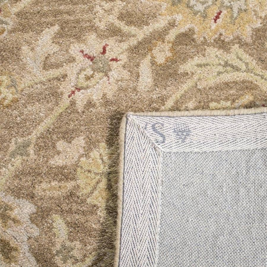 Safavieh Anatolia Cilcia 6 X 6 Tan Ivory Square Indoor Floral Botanical Vintage Handcrafted Area Rug In The Rugs Department At Lowes Com