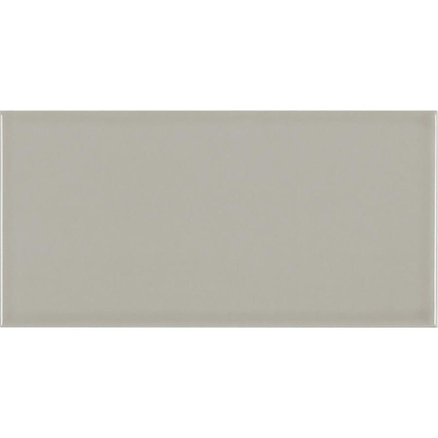 Crossville Modern Nostalgia 8 Pack Grey Gloss 12 In X 24 In Glossy Ceramic Subway Wall Tile In The Tile Department At Lowes Com
