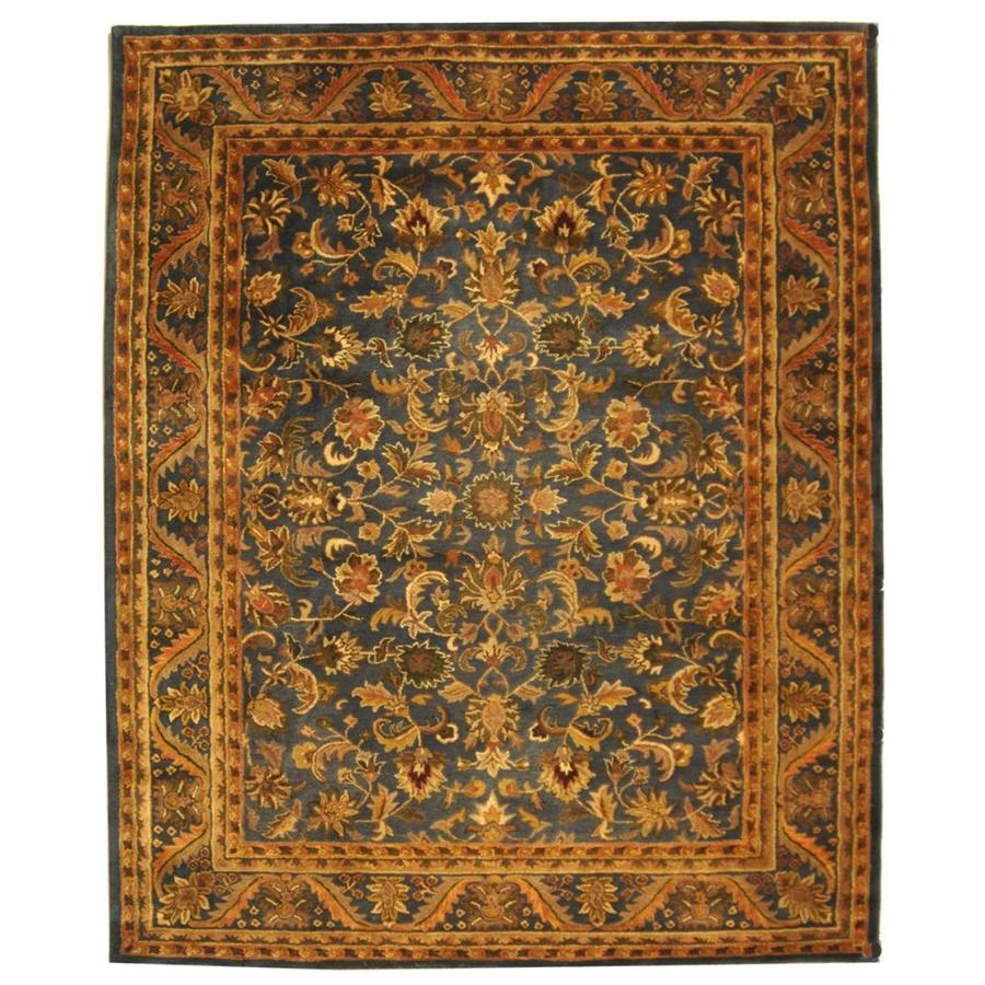 Safavieh Antiquity Rudbar 9 X 12 Blue Gold Indoor Floral Botanical Vintage Handcrafted Area Rug In The Rugs Department At Lowes Com