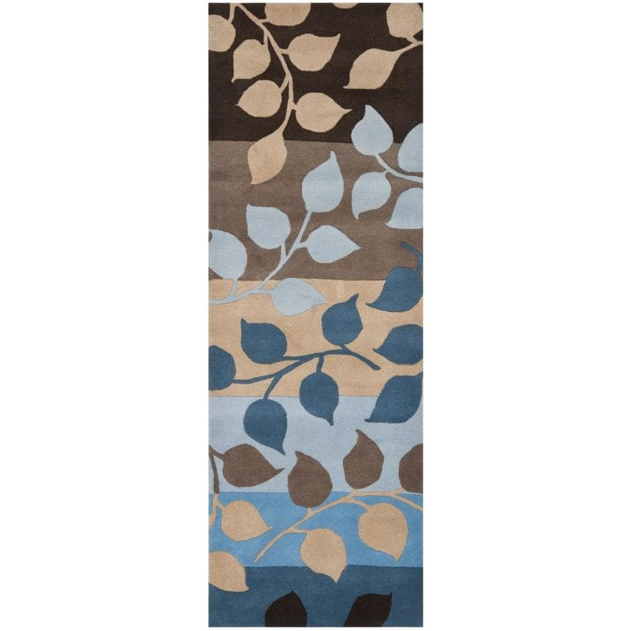 Safavieh Soho Feto 2 X 8 Brown Blue Indoor Floral Botanical Handcrafted Runner In The Rugs Department At Lowes Com