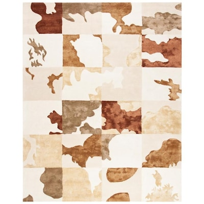 Safavieh Soho Cowhide Rug 5 Ft X 8 White Multi At Lowes