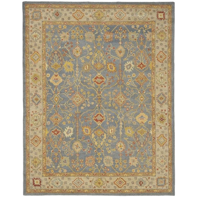 Safavieh Antiquity Heghan 8 X 10 Blue Ivory Indoor Floral Botanical Vintage Handcrafted Area Rug In The Rugs Department At Lowes Com