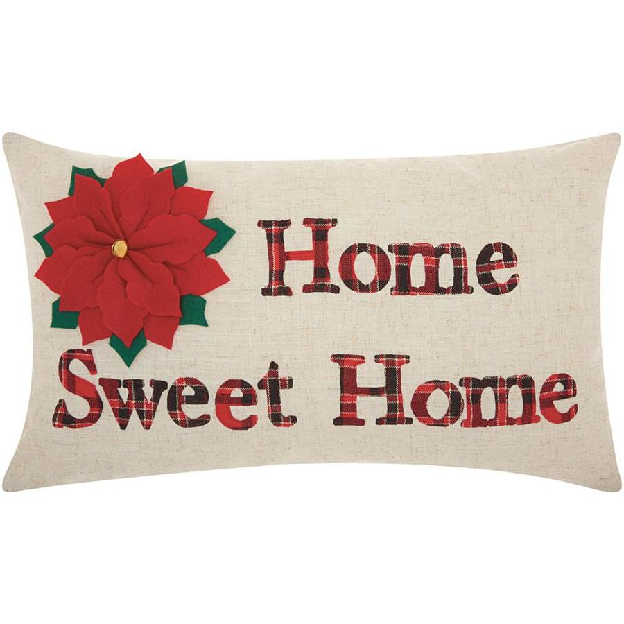 Mina Victory Mina Victory Home Sweet Home Natural Christmas Throw Pillow In The Christmas Decor Department At Lowes Com