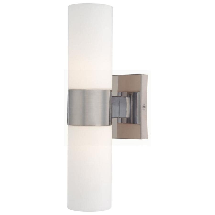 Minka Lavery 4 5 In W 2 Light Brushed Nickel Modern Contemporary Wall Sconce In The Wall Sconces Department At Lowes Com