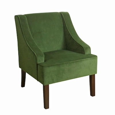Awe Inspiring Benzara Modern Green And Brown Velvet Accent Chair At Lowes Com Inzonedesignstudio Interior Chair Design Inzonedesignstudiocom