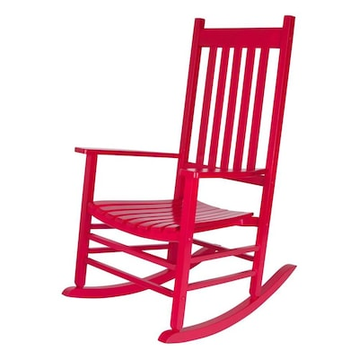 Swell Shine Company Vermont Wood Rocking Chair S With Red Slat Gmtry Best Dining Table And Chair Ideas Images Gmtryco