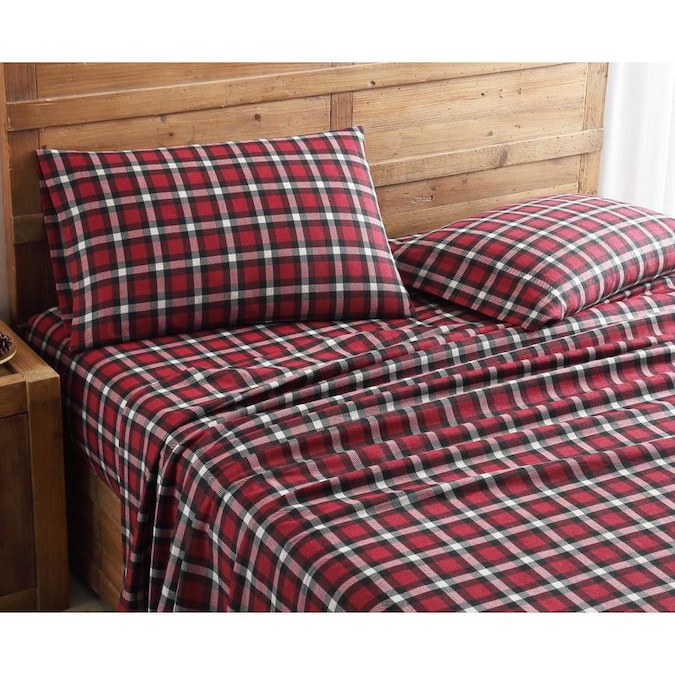 Mhf Home Mhf Home Geraldine 100 Cotton Flannel Set Full Flannel 4 Piece Bed Sheet In The Bed Sheets Department At Lowes Com