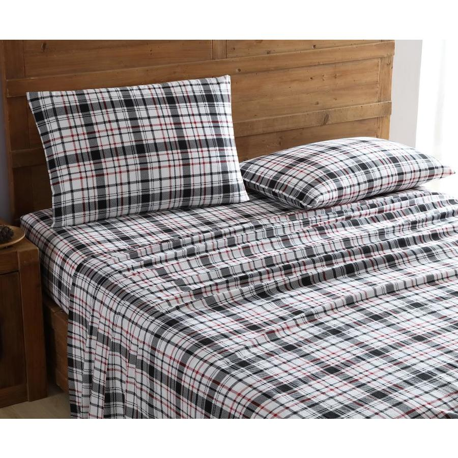 Mhf Home Geraldine 100 Cotton Flannel Sheet Set King Bed Sheets At Lowes Com