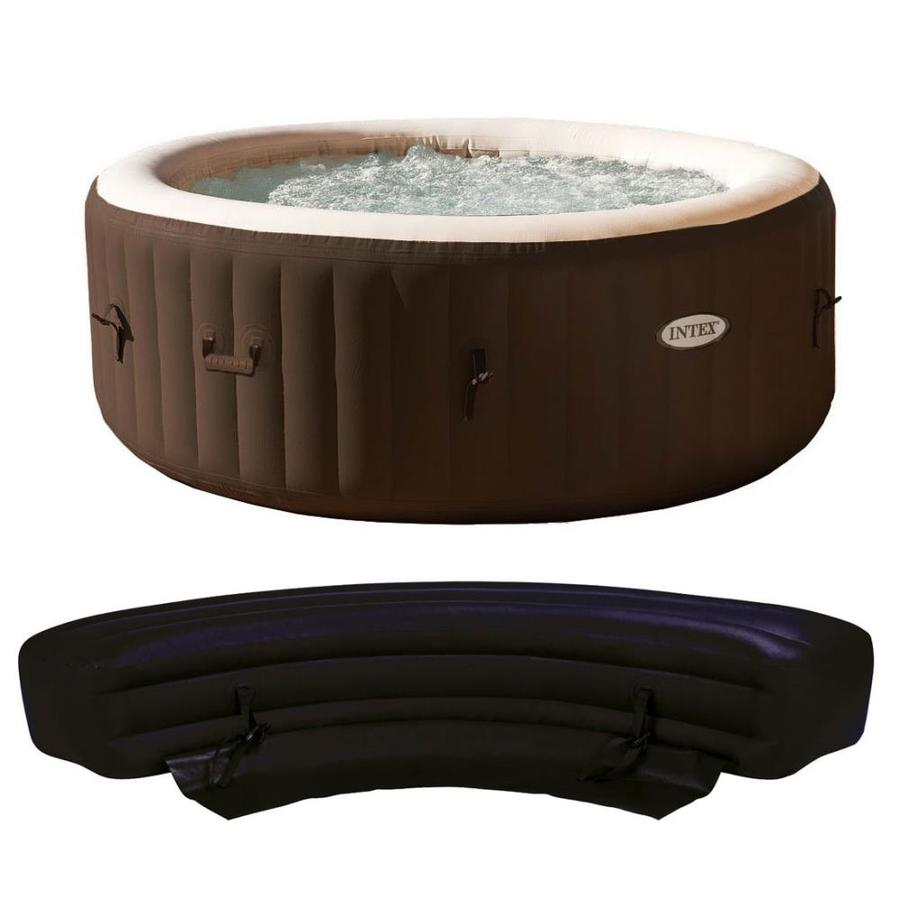 Intex 4 Person 120 Jet Round Inflatable Hot Tub In The Hot Tubs Spas Department At Lowes Com